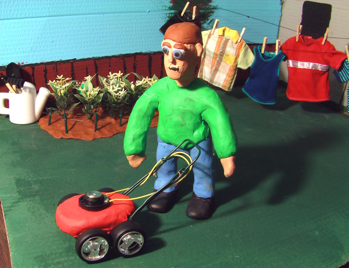 """Charlie Butters in, """"Runaway Lawnmower."""""""