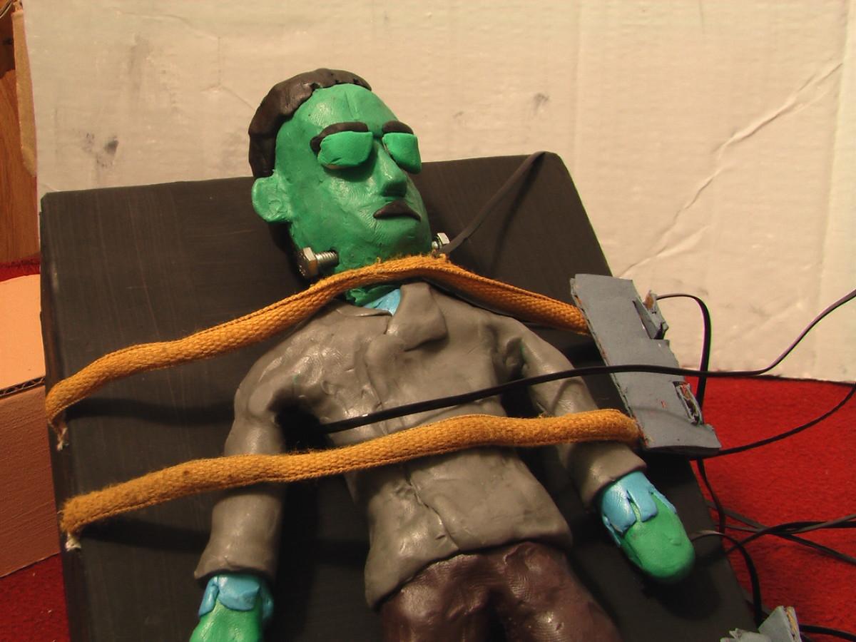 """Frenkenstein in, """"Frankenstein Needs A New Brain."""""""