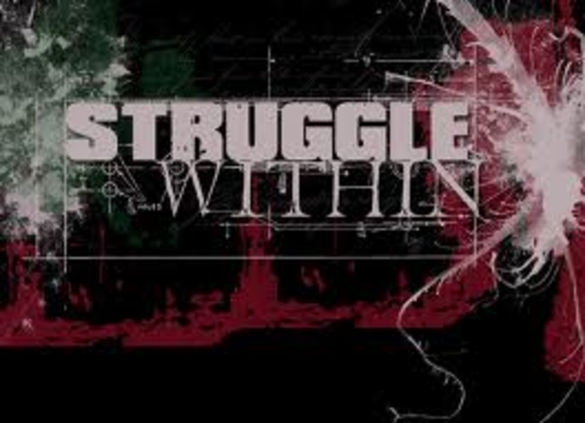 Apart from our normal every day struggles, there are struggles within us that we have to deal with during our lives, so we have to find our inner strength to overcome these struggles.