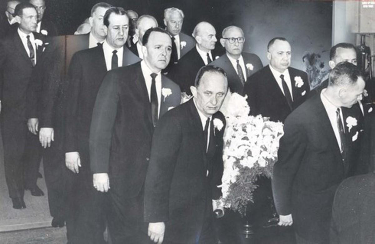 Harry Cohn's Funeral, 1958