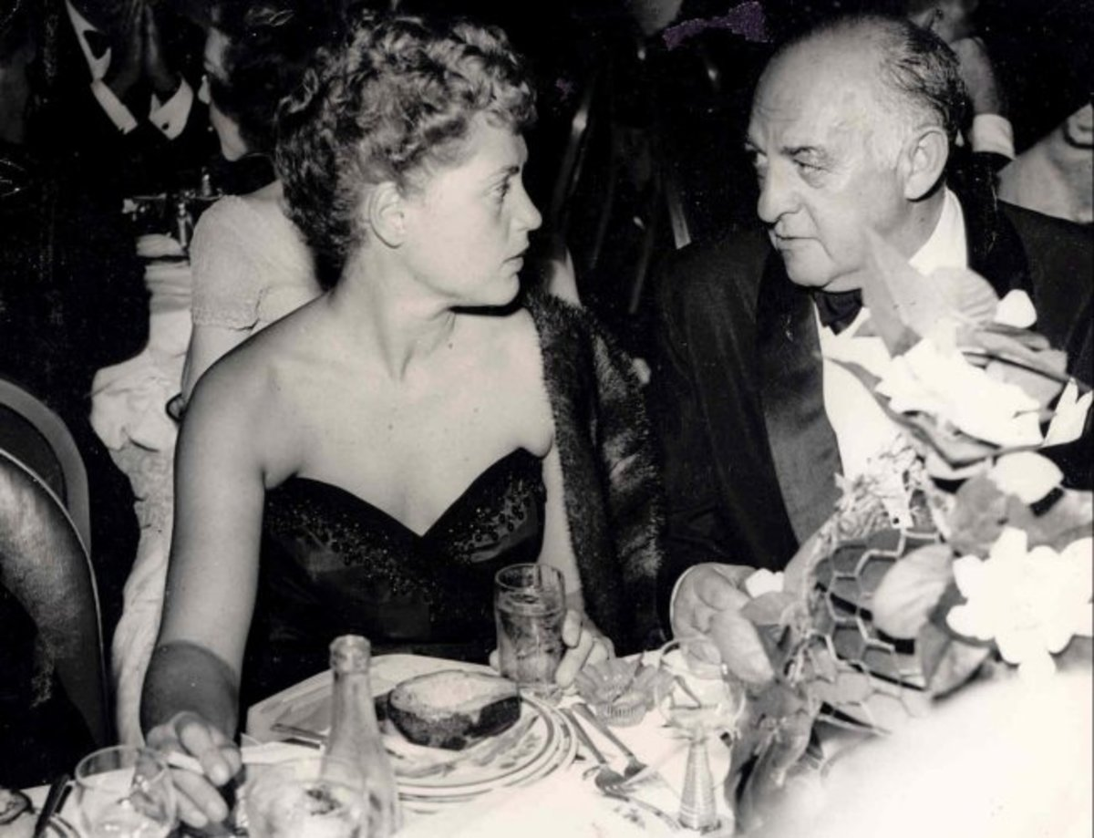 Cohn with Judy Holliday