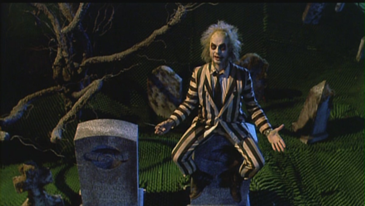 """It's Showtime!"" Beetlejuice's infamous words!"