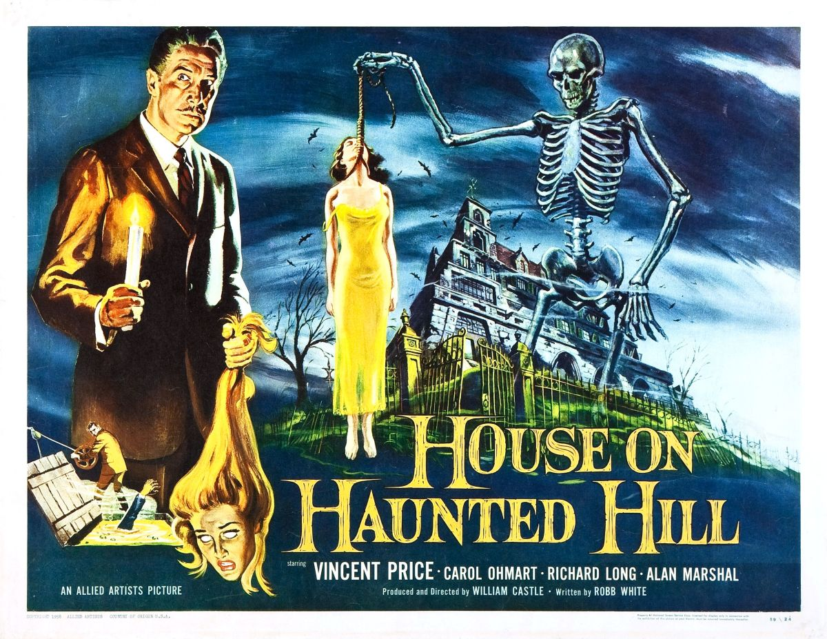 Vincent Price is at his best in this wonderful horror classic House on Haunted Hill