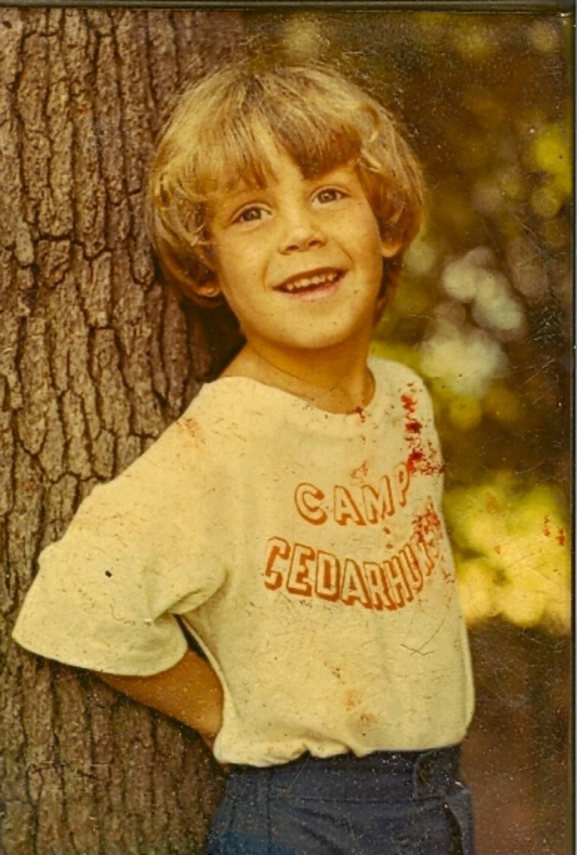 Peter Kellerman in his yearly camp picture taken at Cedarhurst Day Camp, Cedarhurst,  New York.