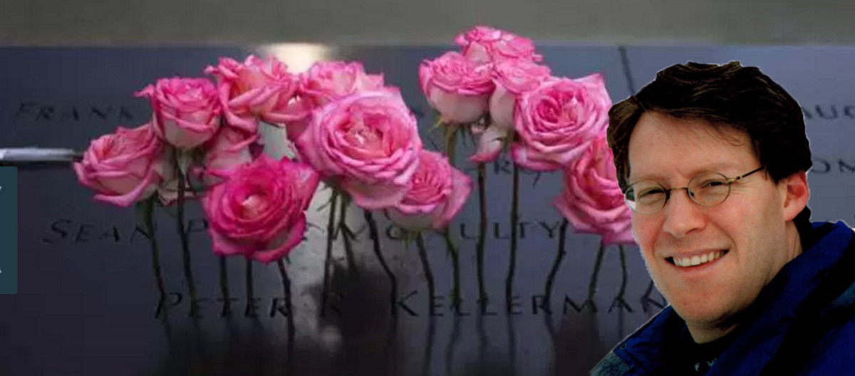 Roses are placed on the inscribed name of Peter Kellerman along the North Pool during 9/11 Memorial ceremonies marking the 12th anniversary of the 9/11 attacks in New York.