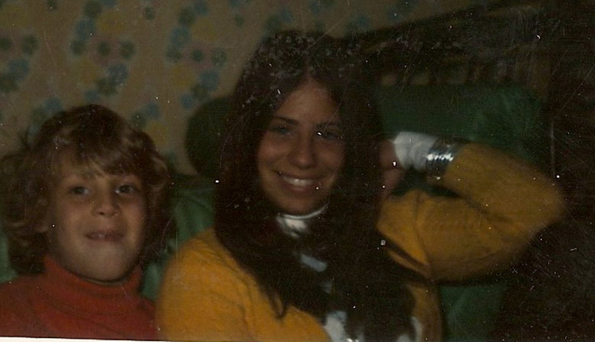 me and cousin Pete in Lawrence, Long Island 1973