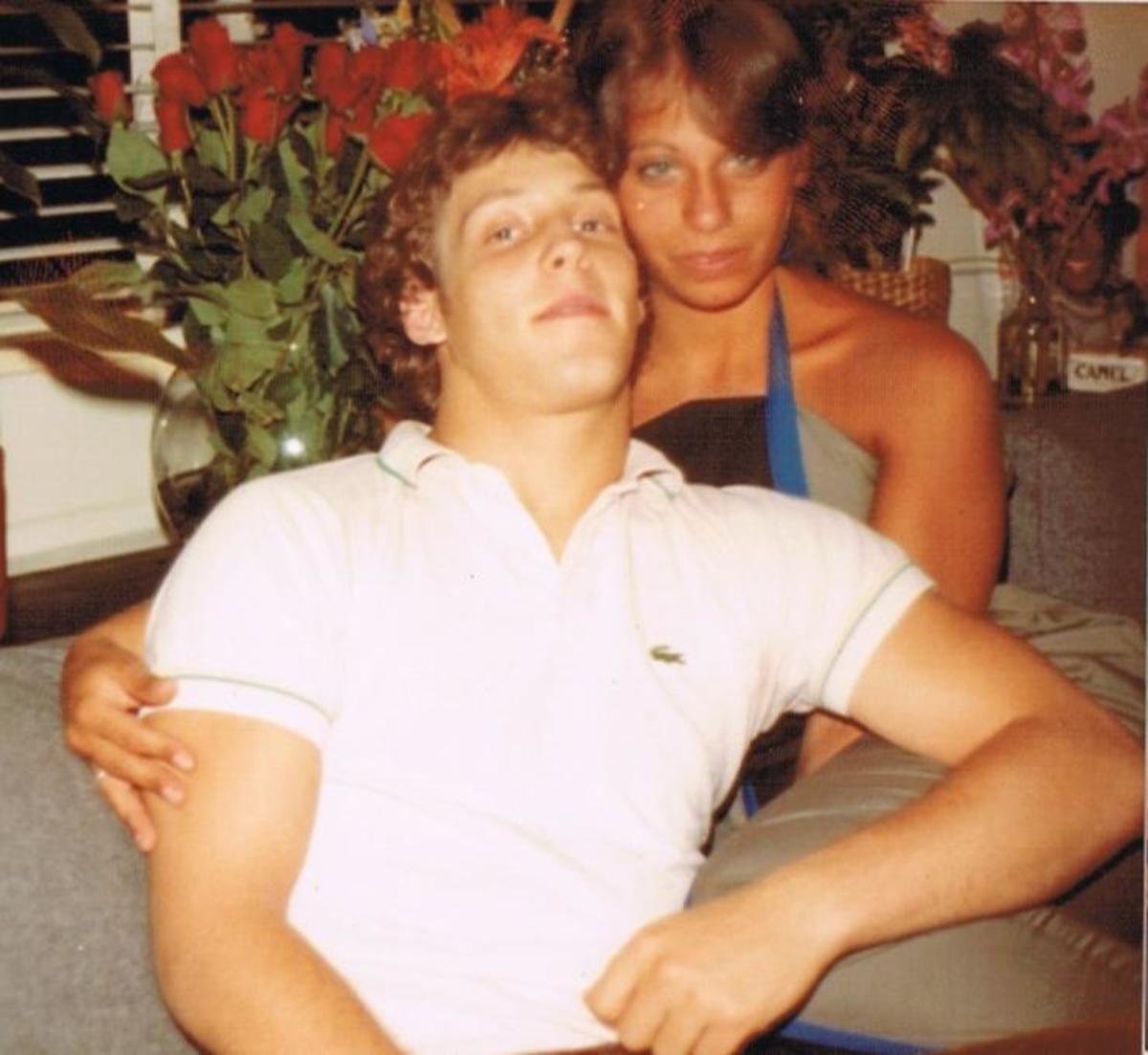 Peter and I celebrating my birthday - New York City 1983