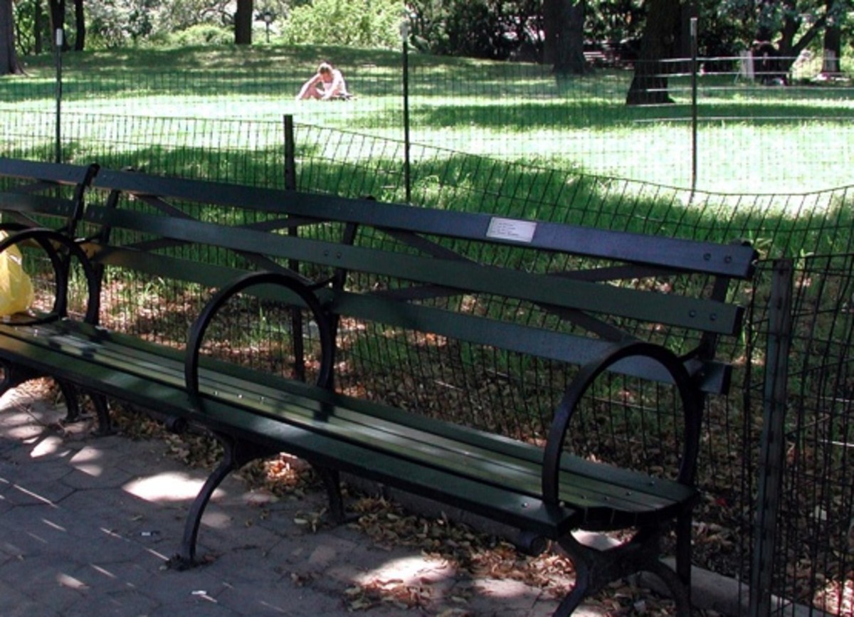 Adopt-A-Bench run by the Central Park Conservancy, New York City