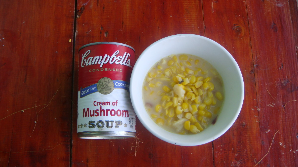 Mushroom Soup and Creamed Corn