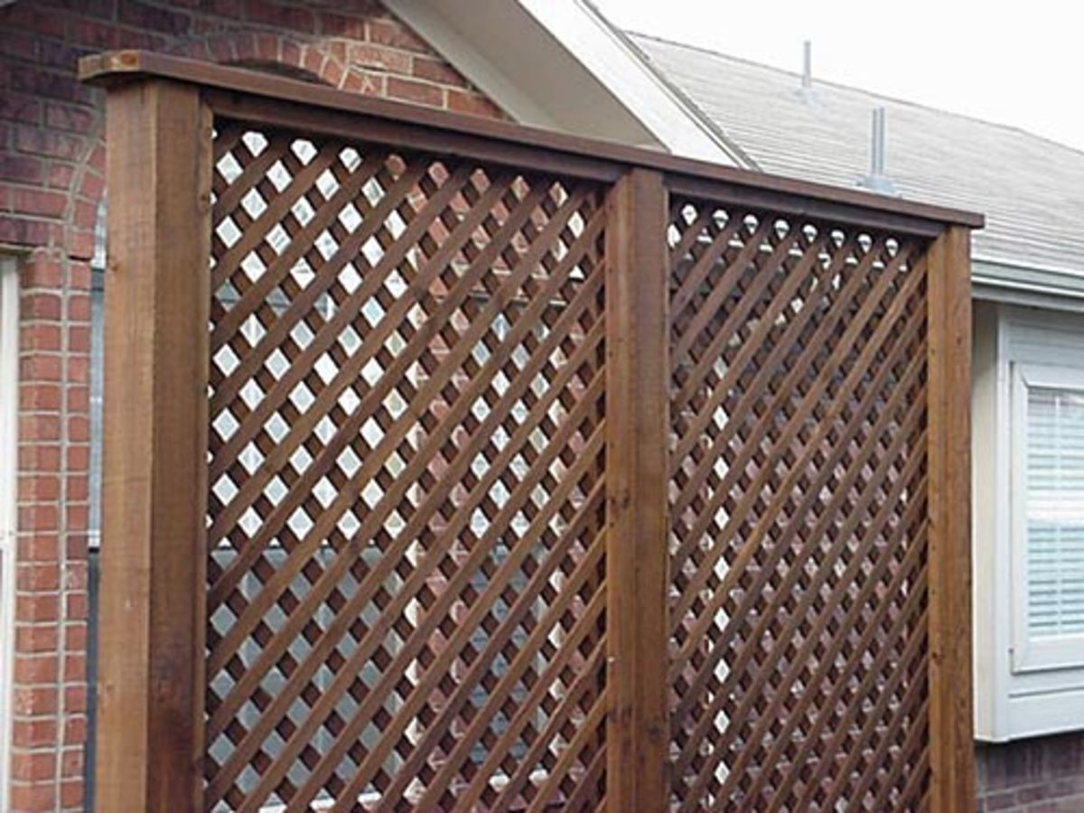 How to Install a Lattice Privacy Screen – Method 2 Using Stops