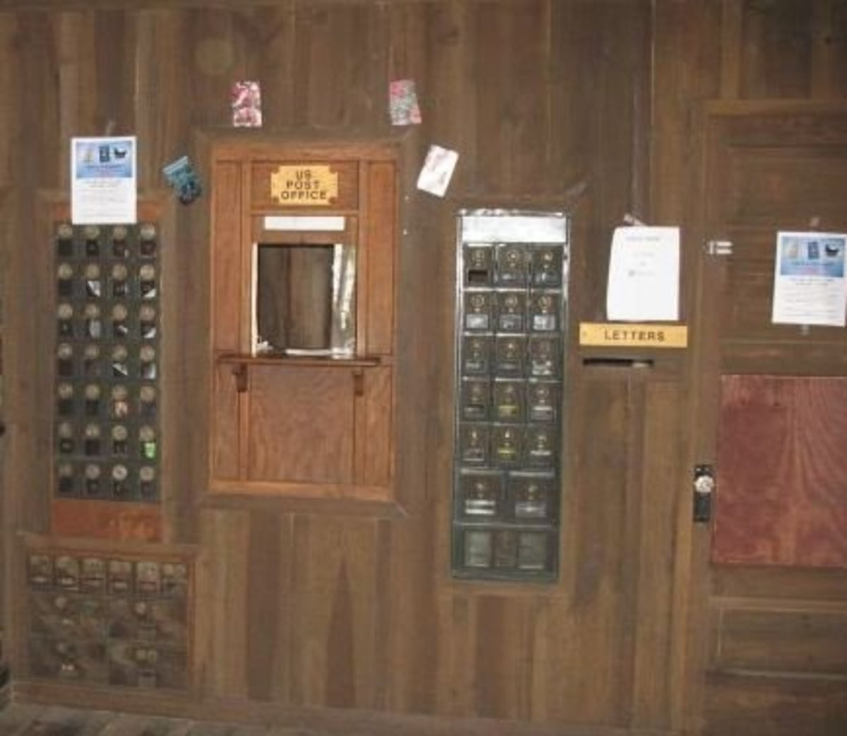 A typical small rural post office interior. This one is just outside of Plant City, Florida