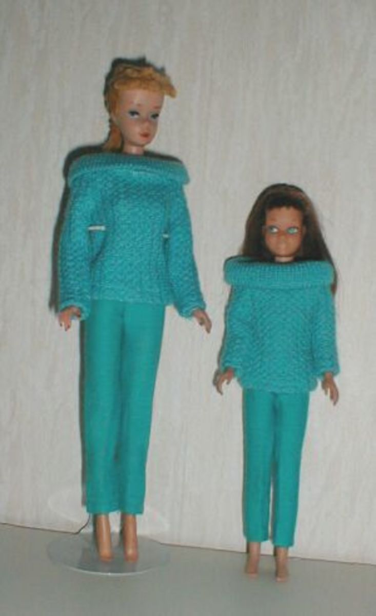 Barbie and Skipper in Sporting Casuals