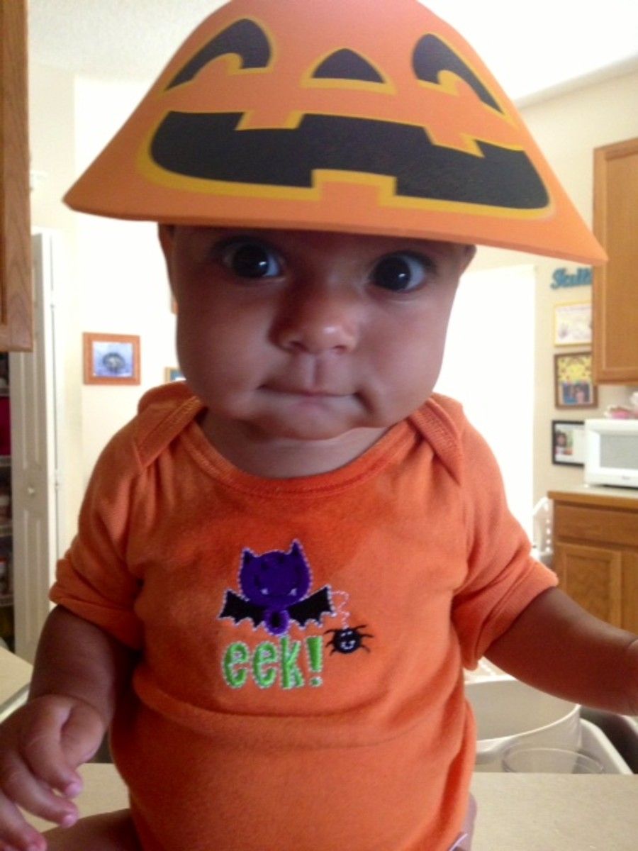 My granddaughter Lily enjoying her first Halloween - 2013