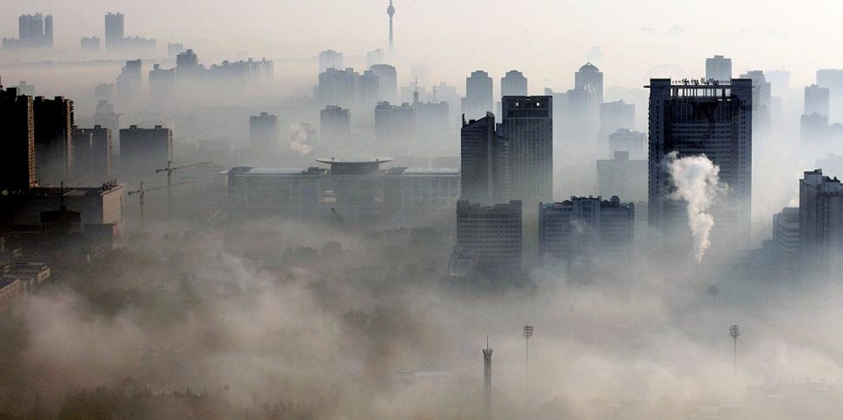 A Chinese smog covered city. Chinese cities are among the most polluted in the world