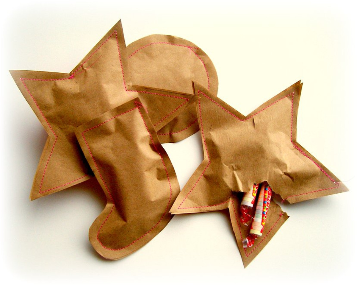 Sewn paper pouches make fantastic treat bags.