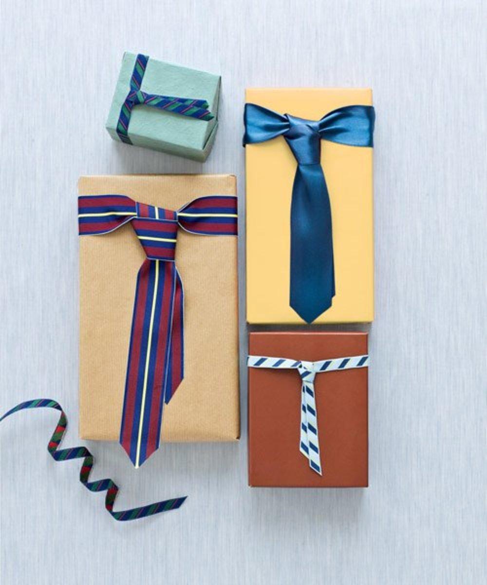 Put a ribbon necktie on it.