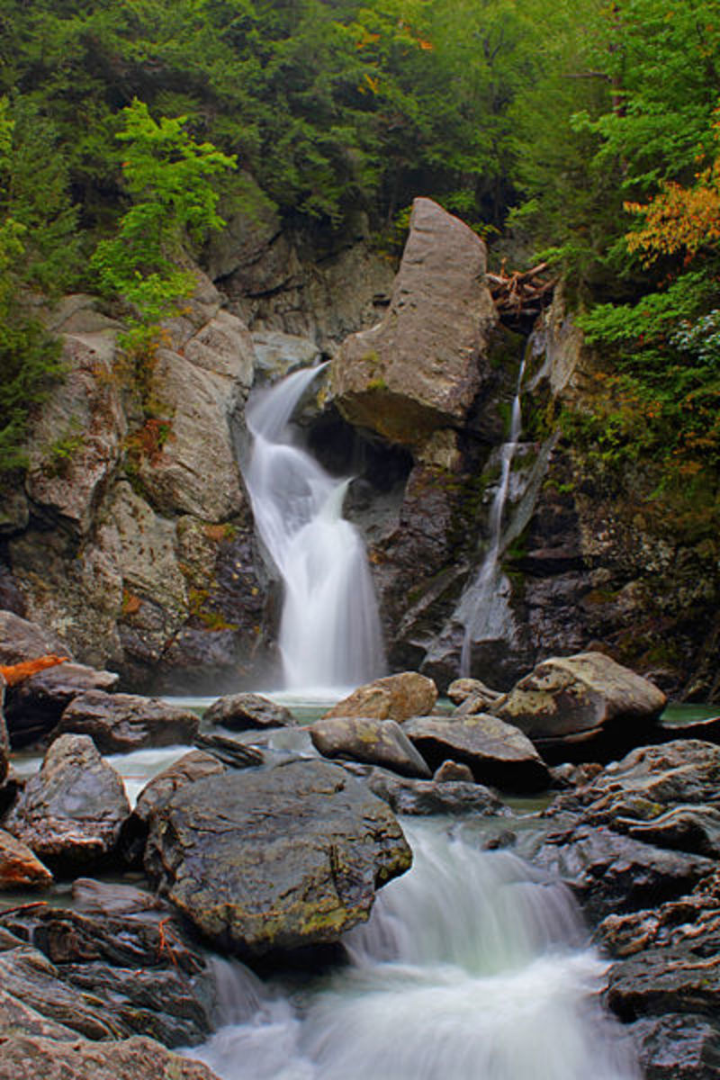 Bash Bish Falls, Massachusetts. A short walk from Taconic State Park, New York.