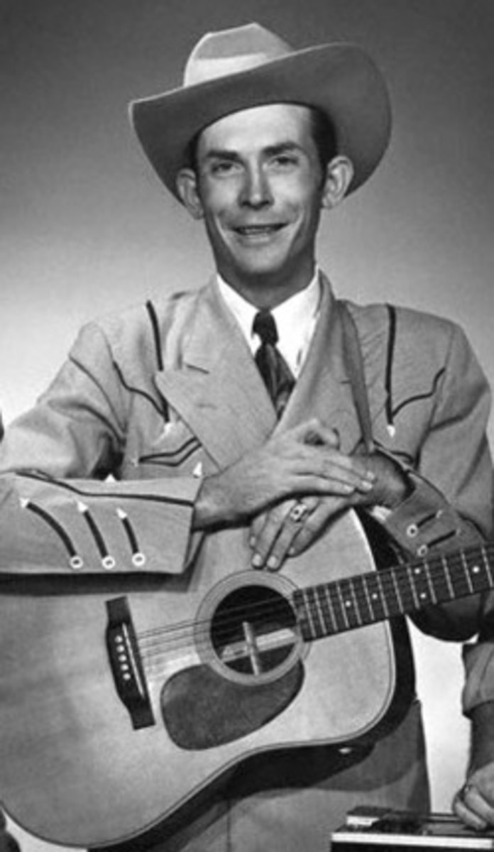 Hank Williams Sr. a country music singer and songwriter who passed away tragically  in 1953 from heart failure (thought to be drug related) in the back seat of his car on the way to a show.