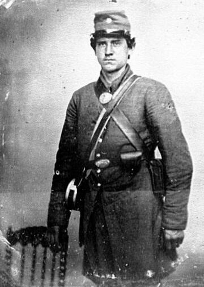 "A confederate soldier... it is believed that the ""gray man"" that haunts the Ryman is a confederate soldier."