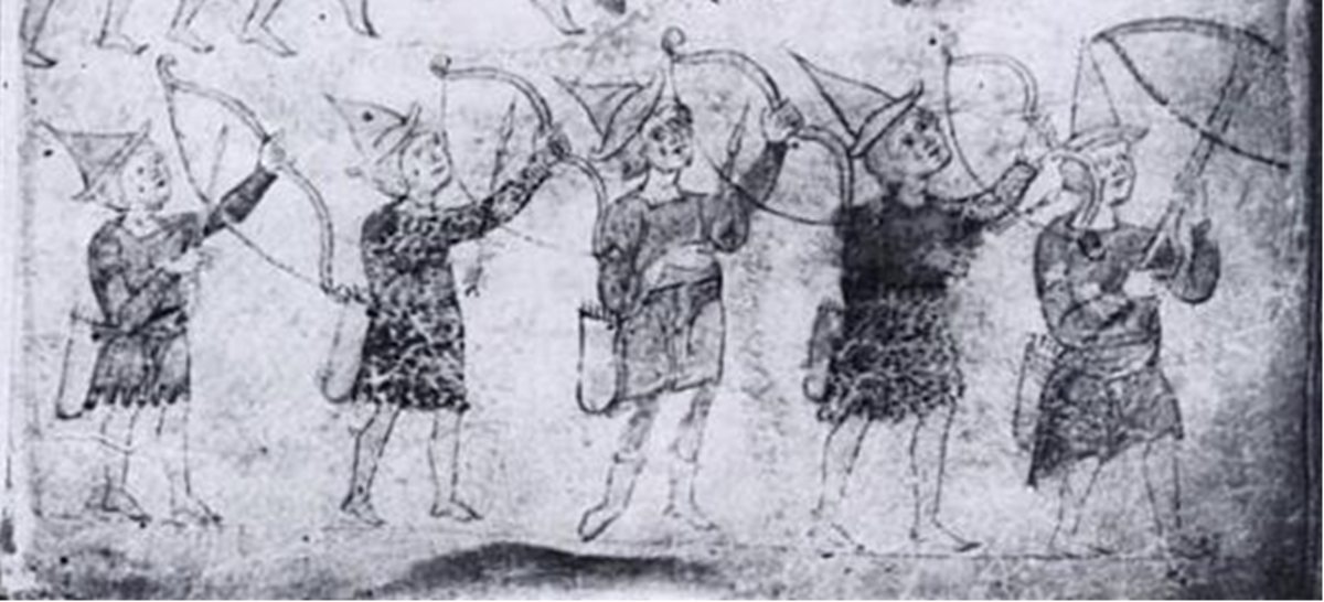 Medieval portrayal of Sicilian Saracen Archer