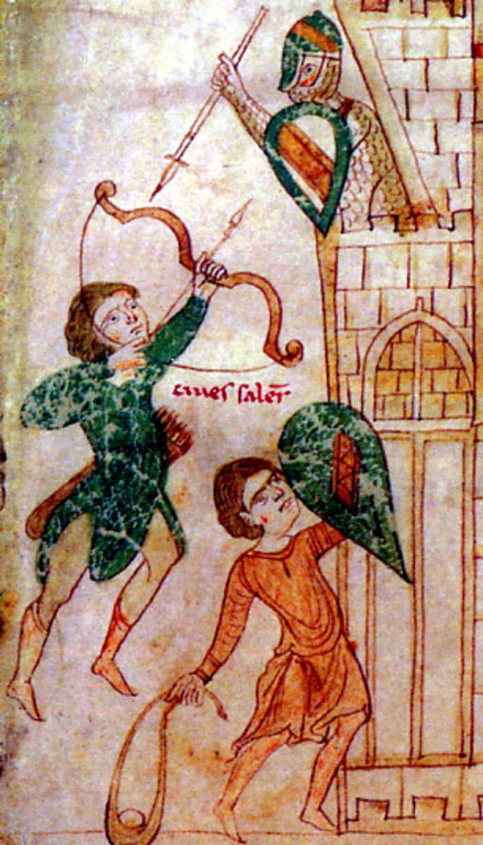 Medieval portrayal of Sicilian Saracen Archer