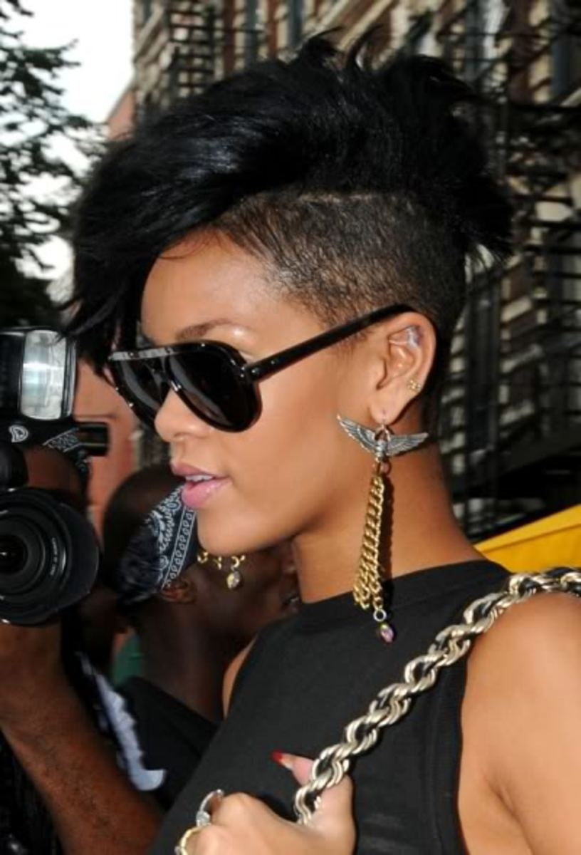Rihanna mohawk style.