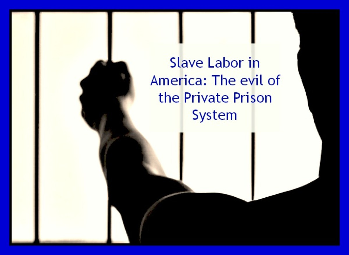 Slave Labor in America:  The evil of the Private Prison System