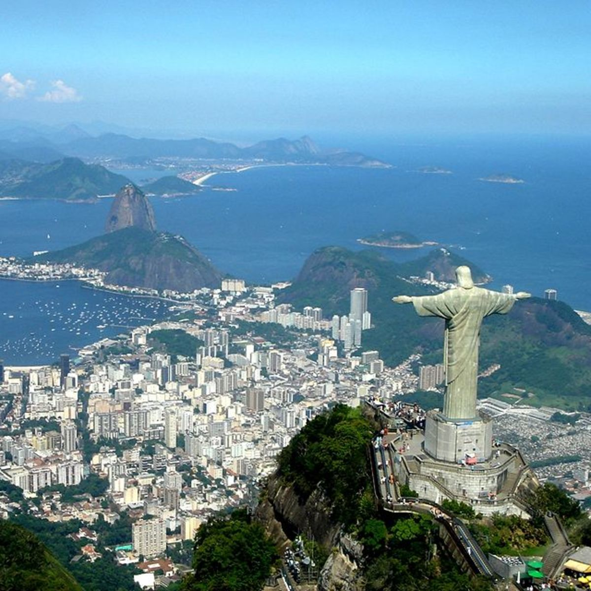 Christ the Redeemer statue overlooking Rio de Janeiro