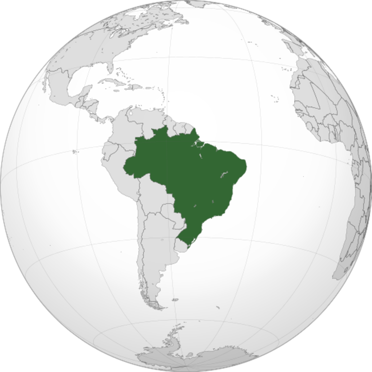 Map showing Brazil's location