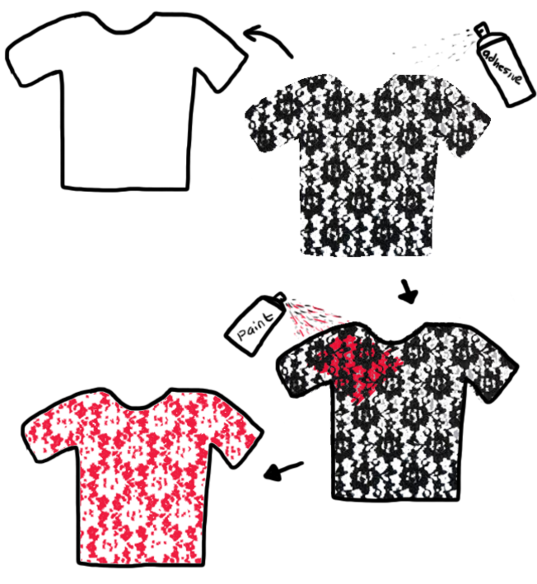 how-to-lace-stencil-t-shirt