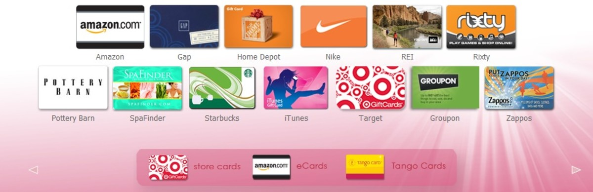 Gift cards can be purchased from any of the supported retailers.