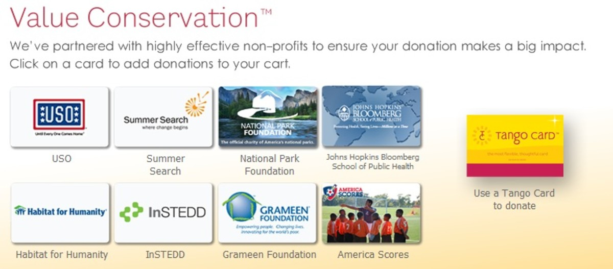 Any portion of the balance can be donated to one or more charities.