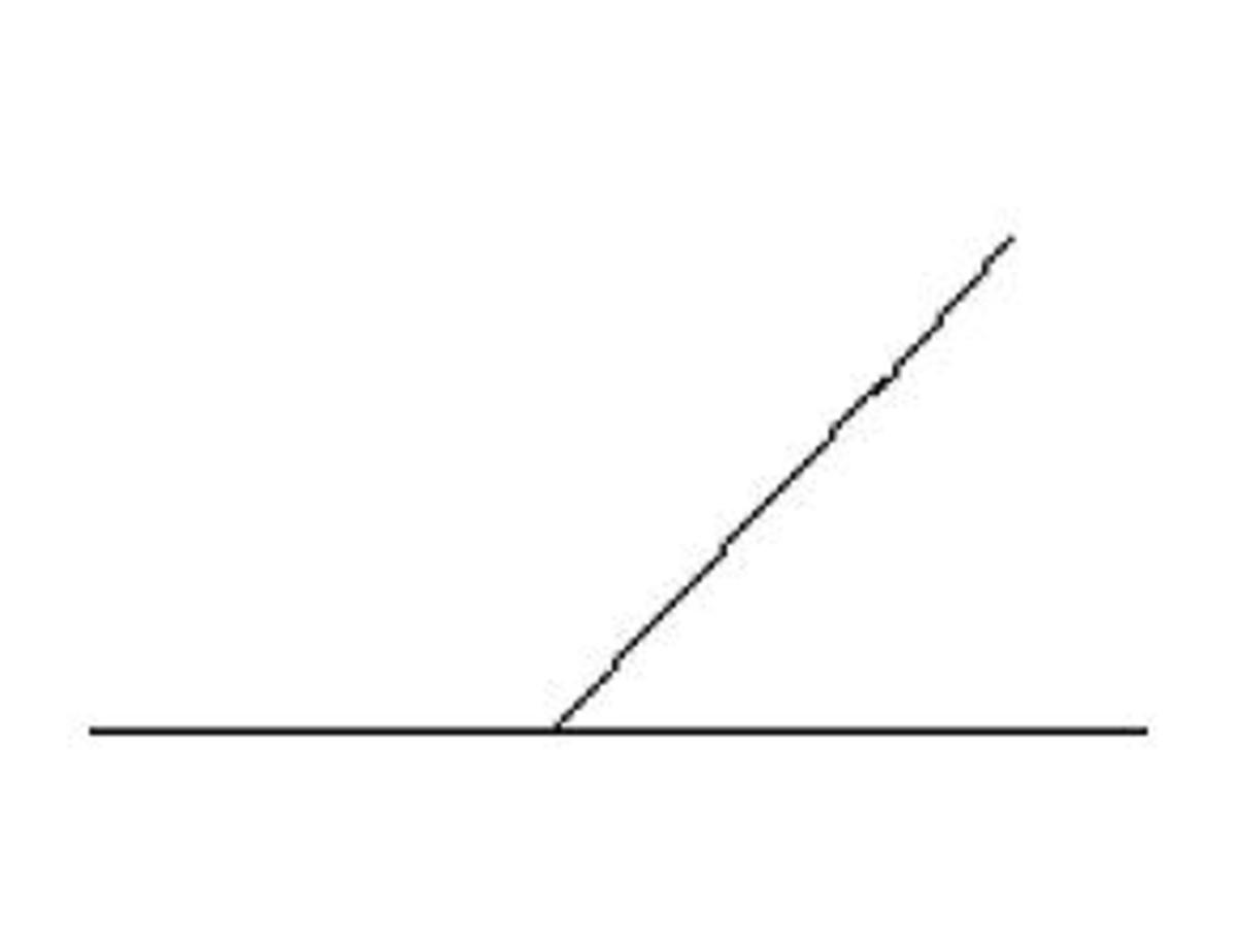 Start off by drawing a baseline with ruler and pencil, then draw a second line at an angle.