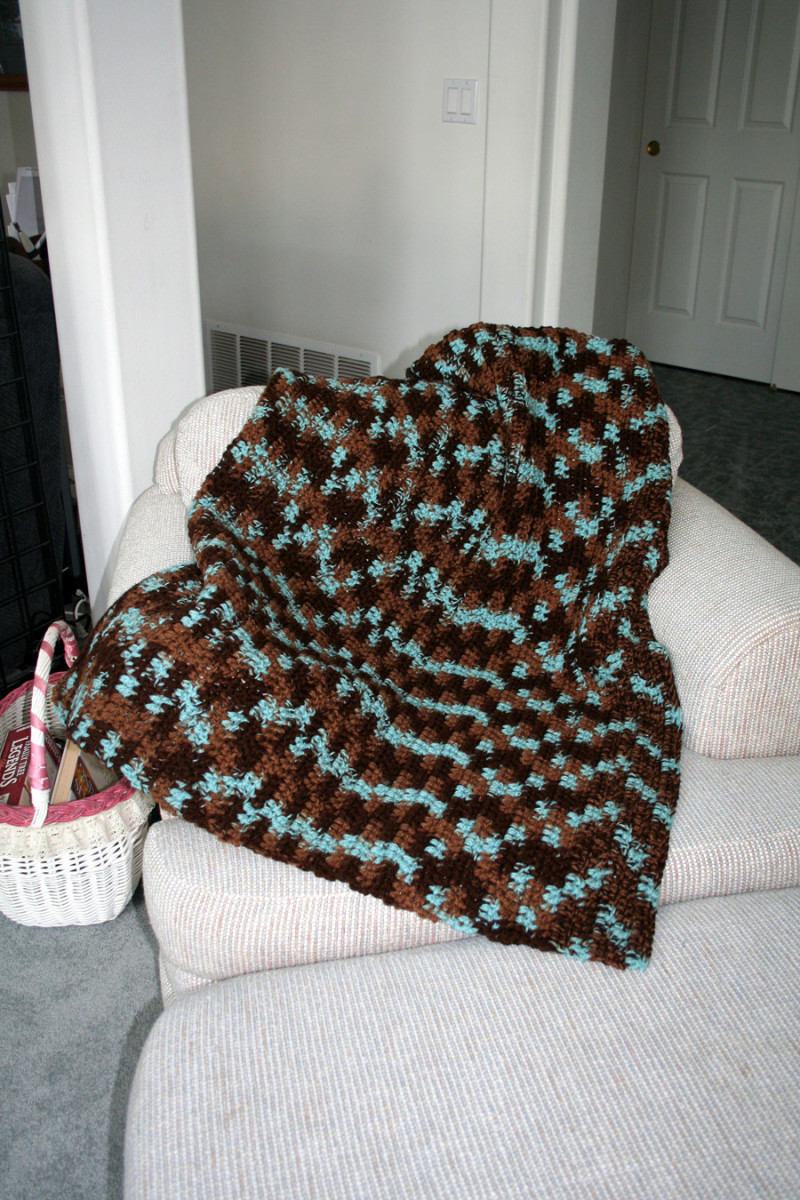 Cozy colorful afghan