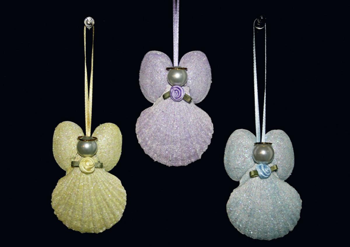 Handmade treasures for christmas - Seashell ornaments to make ...