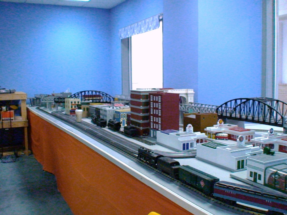 The gauge and scale of the model trains and tracks determine how much space is required to set up a permanent model train layout.