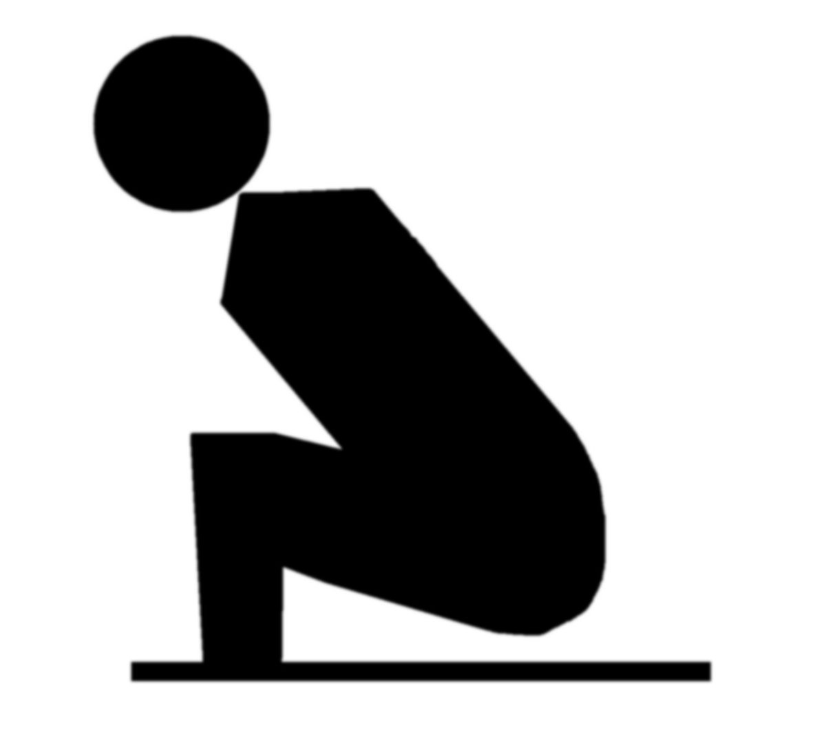 The infamous squatting position that you will need to perfect if you travel to a country that has squat toilets