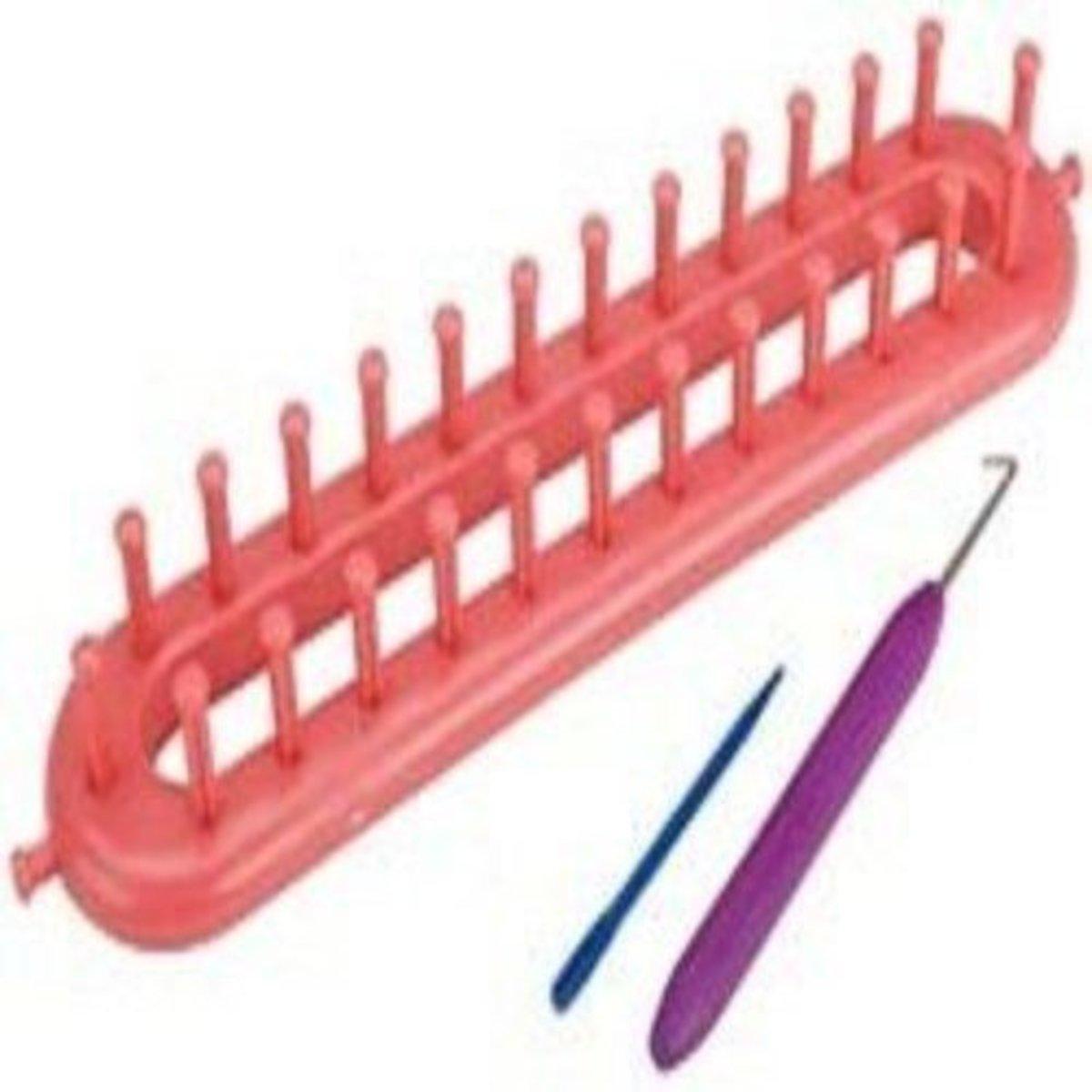 Knifty Knitter Pink Long Loom