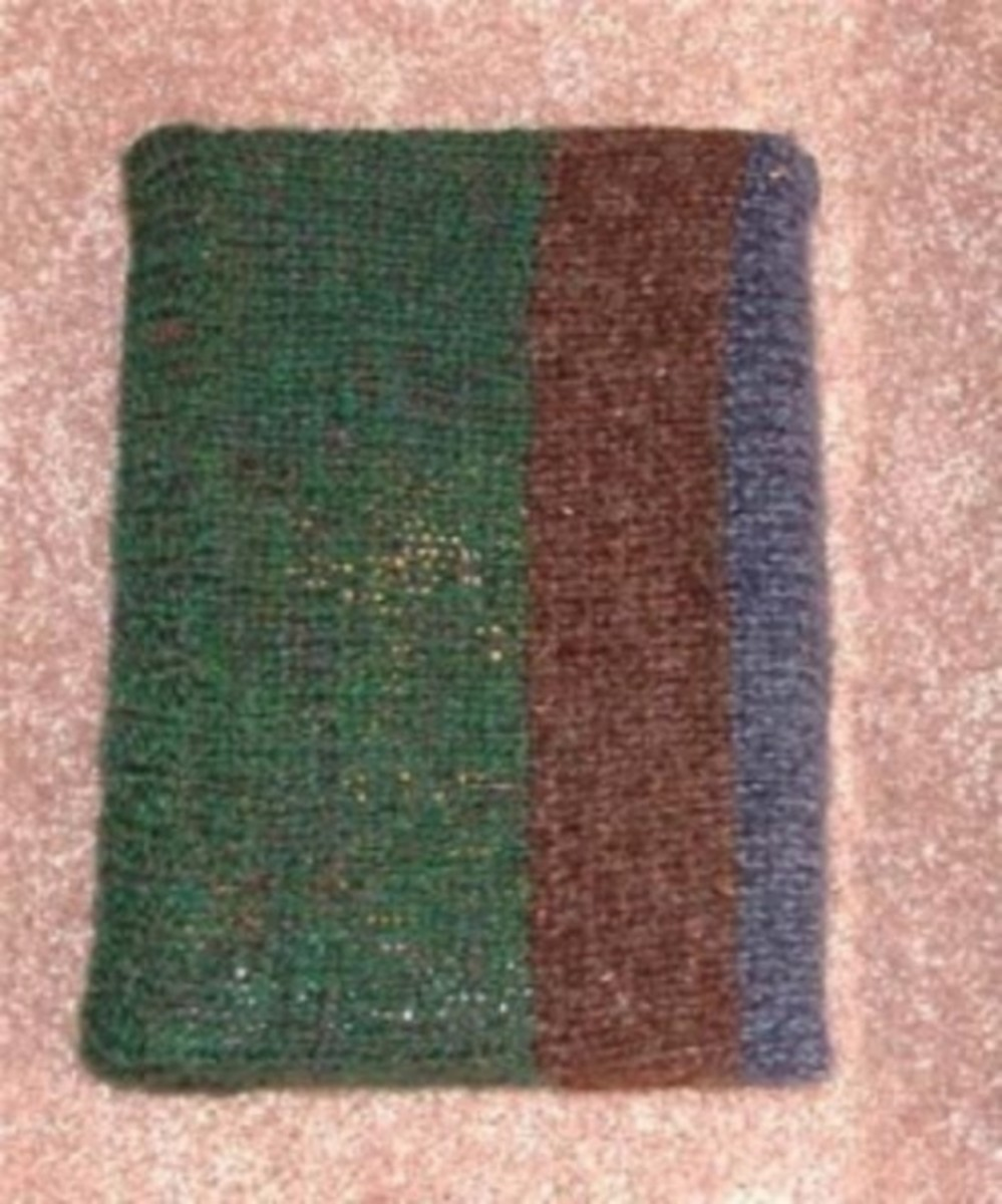 Knifty Knitter Book Cover Pattern for the Long Looms