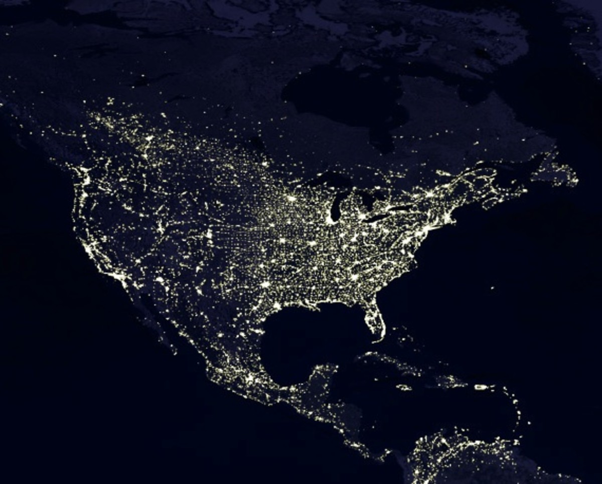Light pollution as seen from space.