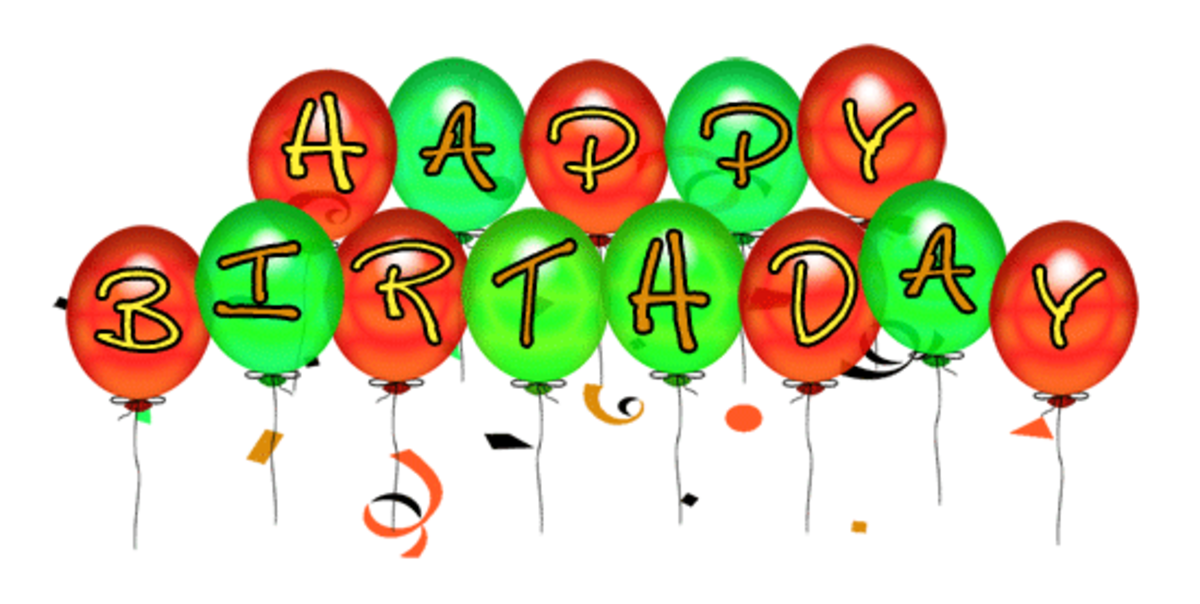 B-Day Balloons Clip Art Small