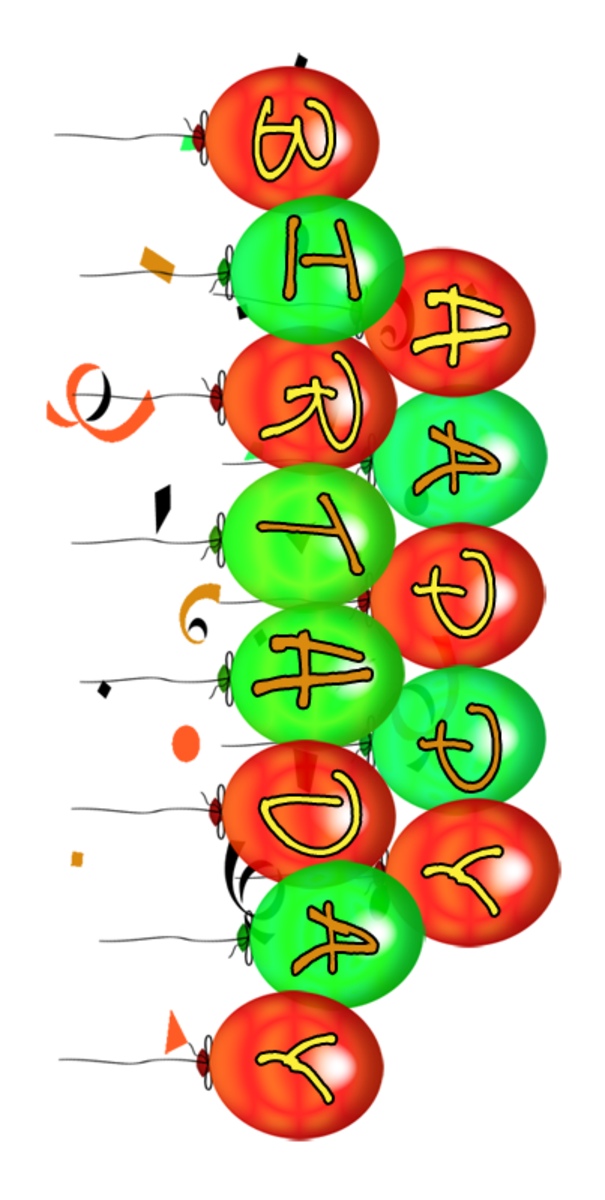 Happy Birthday Balloons Clip Art Large