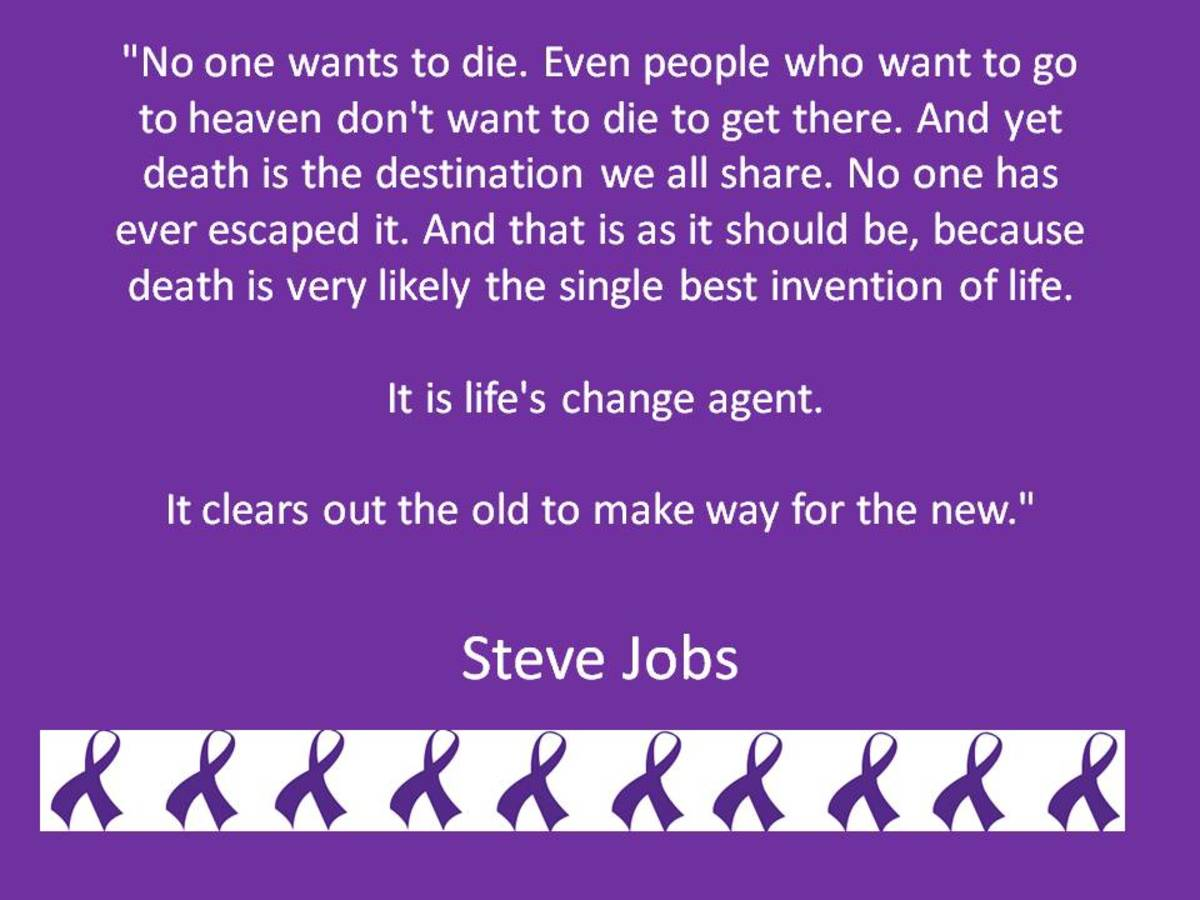 Famous Quote by Victim of Pancreatic Cancer