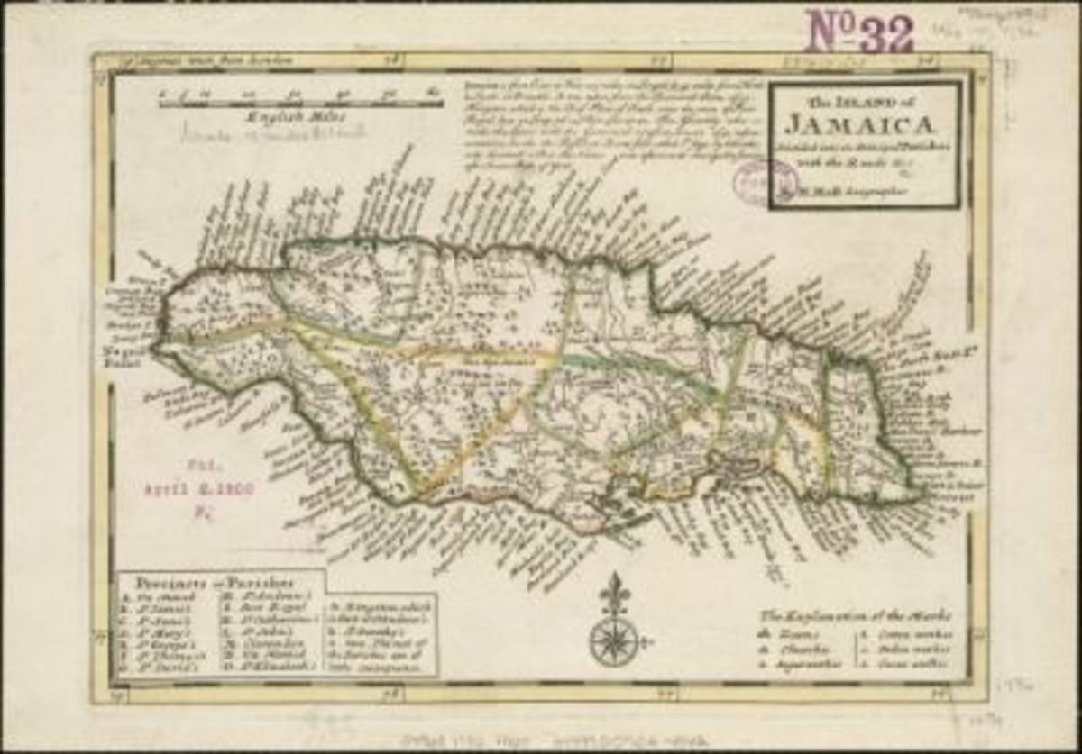 Map Of Jamaica Courtesy of Norman B. Leventhal Map Center at the BPL