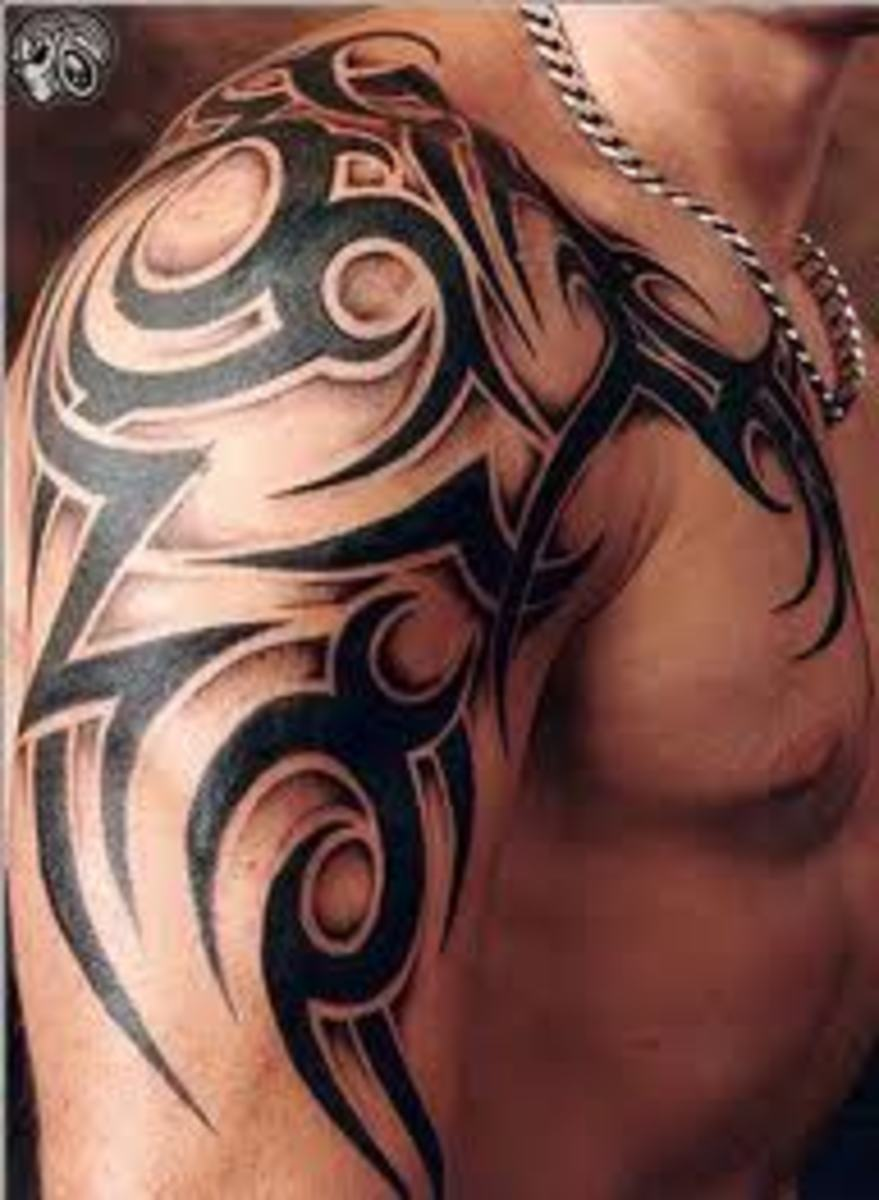 Tribal art is very popular among men. They are great for full body art.