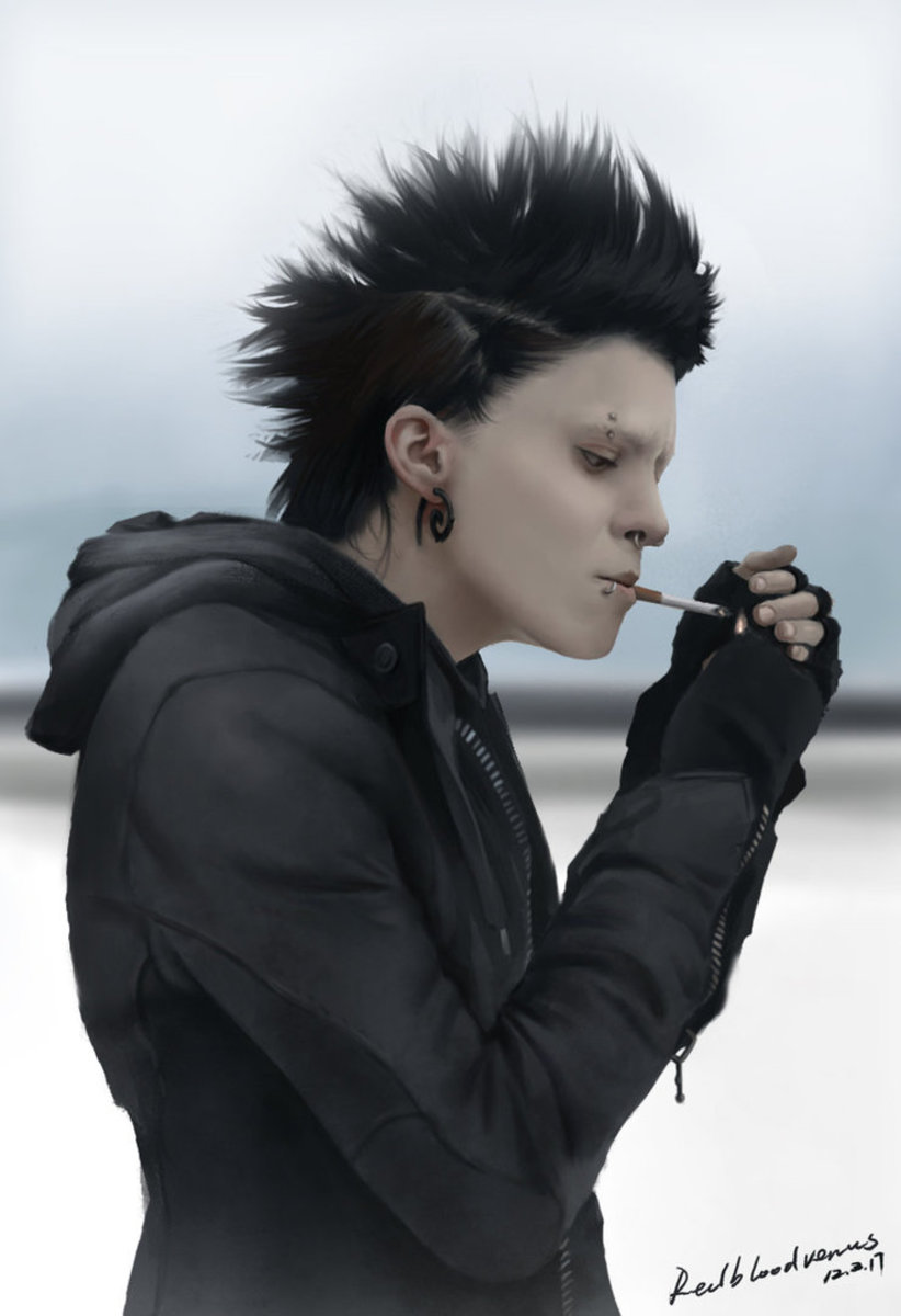 Lisbeth Salander Girl With The Dragon Tattoo Costume And
