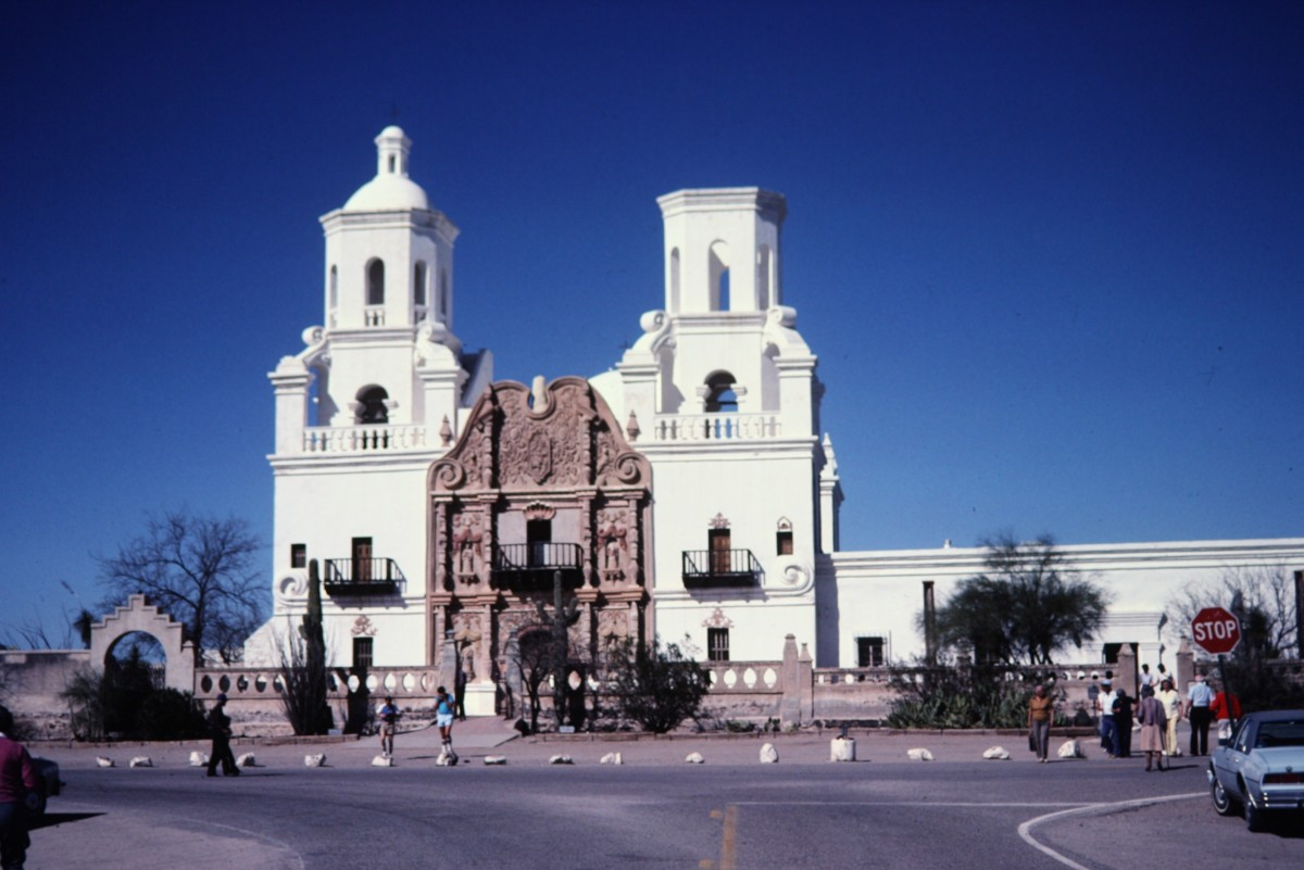 Mission San Xavier del Bac ~ Photos of National Historic Landmark on Indian Reservation in Tucson, Arizona