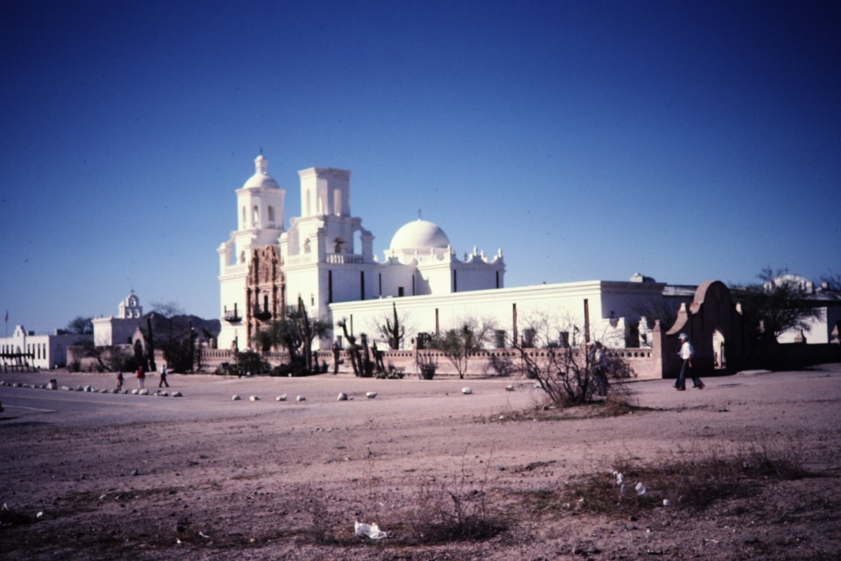 Mission San Xavier del Bac - Glistening white beauty amidst the surrounding desert scenery.
