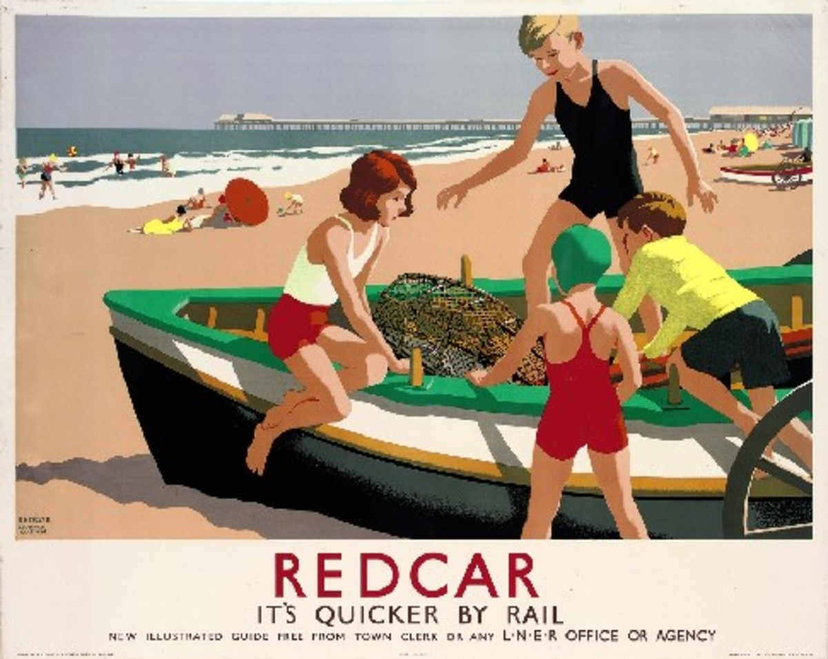 Redcar, late 1940s (happier days before everybody migrated in the late 1960s to the Costa Dorada etc on package holidays). The pier was still there at least, before the German steamer ran aground - lasted all through WWII and they got it in the end!