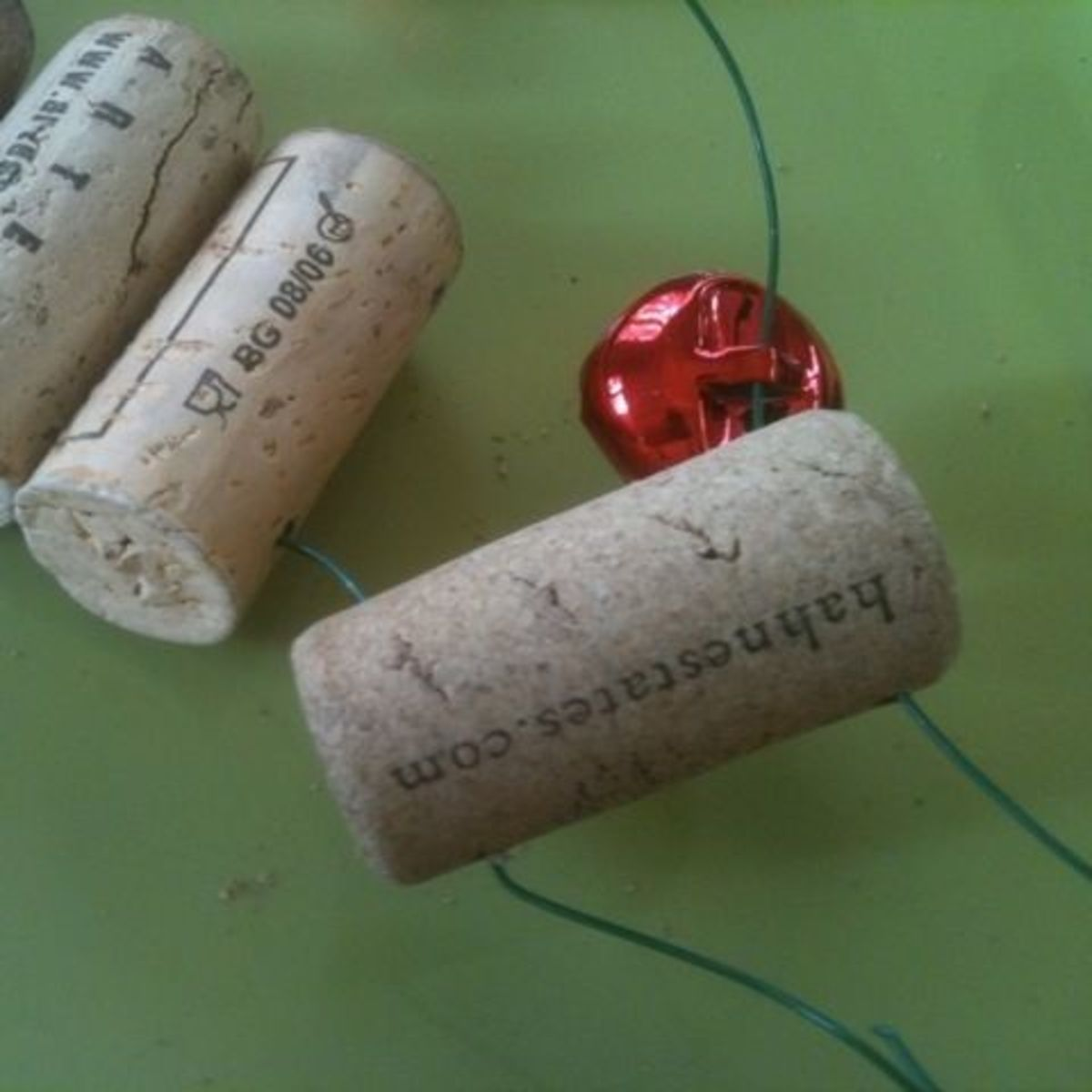 Mickie_G threading the wine corks with a bell